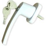 Ручка для ПВХ окон с ключом, штифт 38 мм.