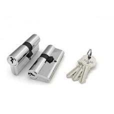 Цилиндровый механизм 100 CA 80 mm (30+10+40) CP хром 3 кл.