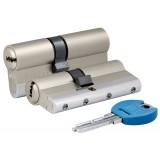 Цилиндровый механизм 164 YGS/80 (35+10+35) mm никель 5 кл.