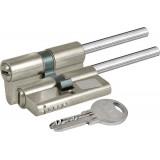 Цилиндровый механизм  под вертушку (дл.шток) 164 SX/81 (45+10+26) mm никель 5 кл.