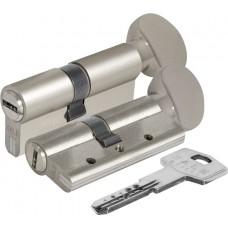 Цилиндровый механизм с вертушкой 164 DBM-E/70 (30+10+30) mm никель 5 кл.