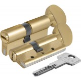 Цилиндровый механизм с вертушкой 164 DBM-E/68 (26+10+32) mm латунь 5 кл..