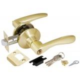 Ручка защелка 6020 SB-E (кл./фик.) мат. золото