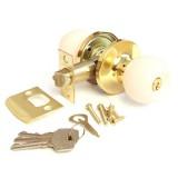 Защелка Апекс 6072-01-G/W золото/белый кл/фикс