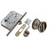 Комплект для раздвижных дверей Morelli MHS-1 WC AB  Античная бронза