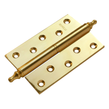 Петля Morelli латунная разъёмная с короной MB 120X80X3.5 PG L C Цвет - Золото