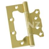 Петля универсальная  RENZ 100-2BB FH РB без врезки 2 подш лат блест 100*75 (2 шт.)