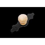 Домарт мод.3 без лака черная Ручка-кнопка декоративная