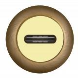 Накладка под сувальдный ключ SC RM AB/GP-7 (1 шт.) Бронза\Золото
