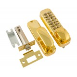 Замок кодовый Нора-М 201 золото с фиксатором
